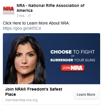 NRA Facebook Paid Post